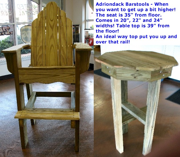 Bench - Table - Chair: Ideas Adirondack bar stool plans
